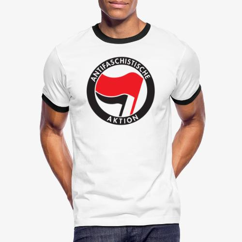 Atnifaschistische Action - Antifa Logo - Men's Ringer Shirt