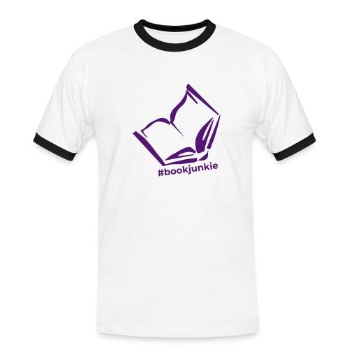 #bookjunkie 2019 - Männer Kontrast-T-Shirt