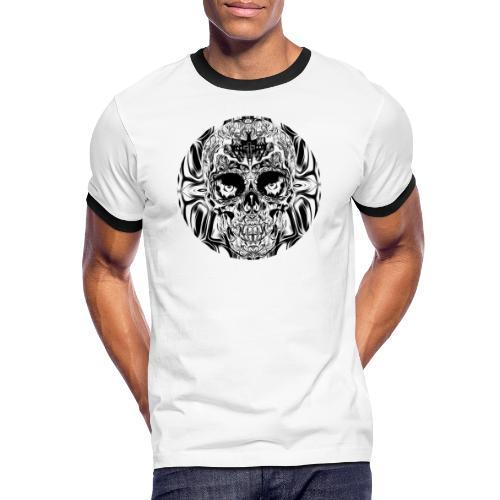 skull SW - Männer Kontrast-T-Shirt