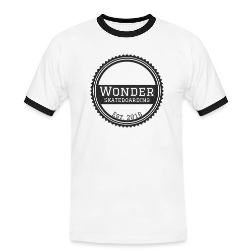 Wonder unisex-shirt round logo - Herre kontrast-T-shirt