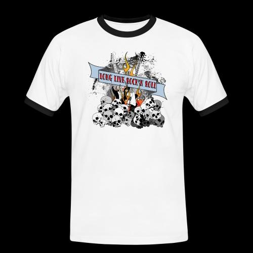 long live - Kontrast-T-shirt herr