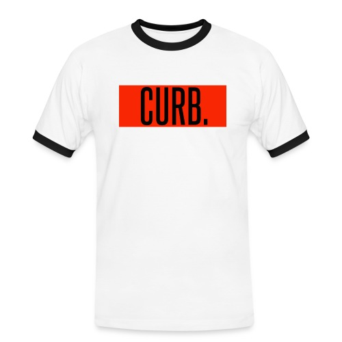 CURB red - Männer Kontrast-T-Shirt