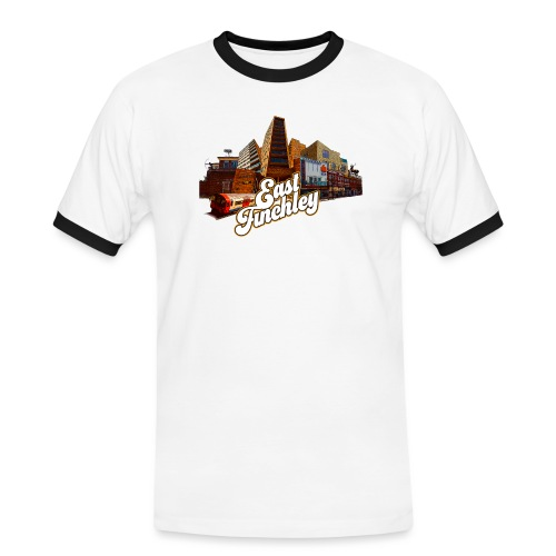 East Finchley Retro Montage - Men's Ringer Shirt