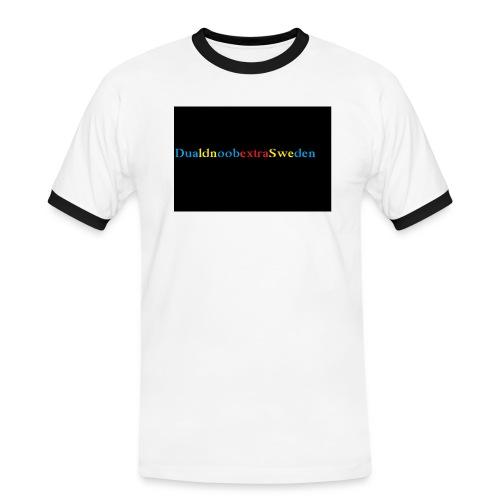 DualdnoobextraSwedens Mugg - Kontrast-T-shirt herr