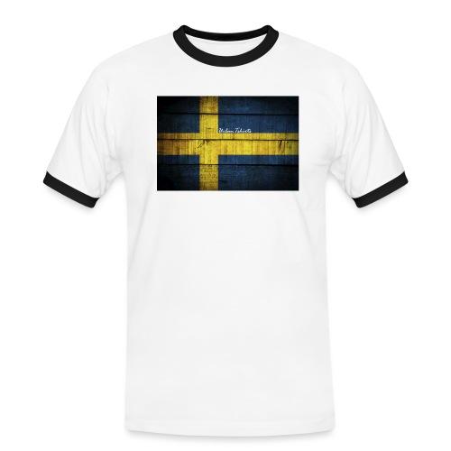 swedish-flag - Kontrast-T-shirt herr