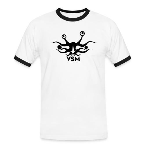 Kerk van het Vliegend Spaghettimonster - Mannen contrastshirt