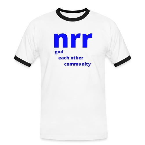 NEARER logo - Men's Ringer Shirt