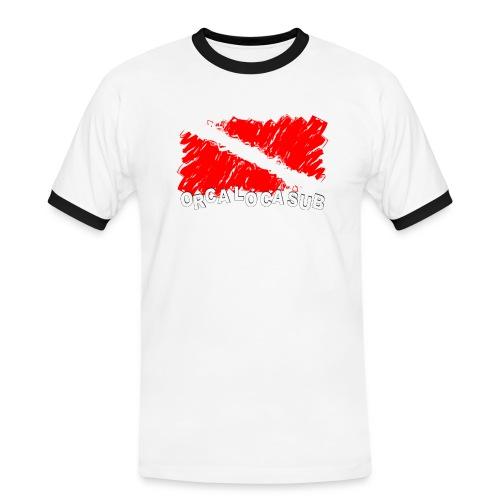 Bandiera Scuba - Maglietta Contrast da uomo