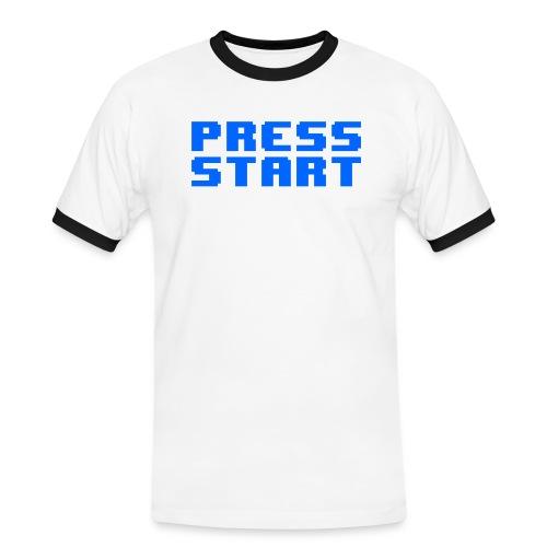 Press Start - Maglietta Contrast da uomo