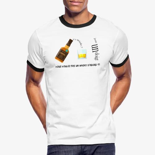 Un whisky ? Juste un doigt - T-shirt contrasté Homme