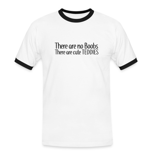 There are no Boobs - Men's Ringer Shirt