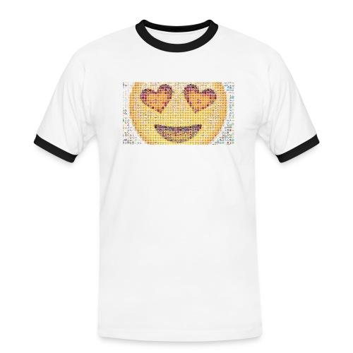 Emoij Hoesje - Mannen contrastshirt