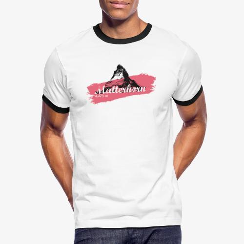Matterhorn - Cervino - Color Coral - Men's Ringer Shirt