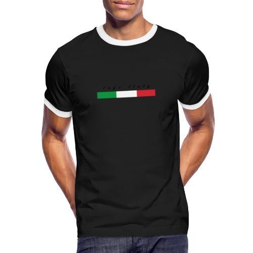 Info Italy Design - Maglietta Contrast da uomo