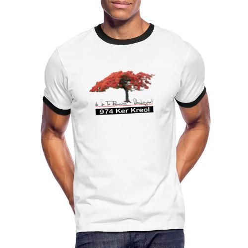 Flamboyant 974 Ker Kreol - T-shirt contrasté Homme