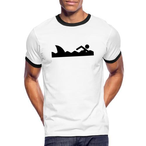 Haifischfutter - Männer Kontrast-T-Shirt