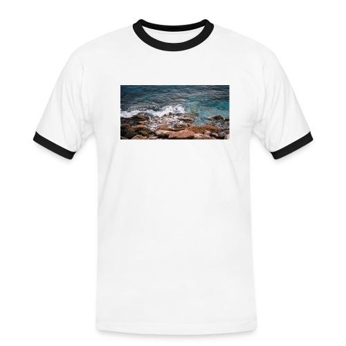 Handy Hülle Meer - Männer Kontrast-T-Shirt