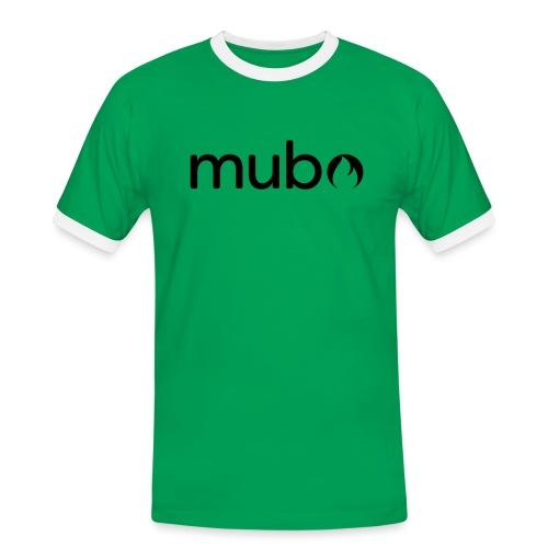 mubo Logo Word Black - Men's Ringer Shirt