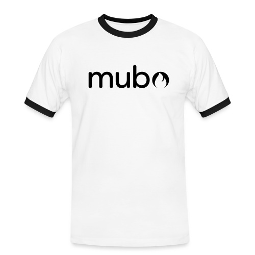 mubo Logo Word Black - Men's Ringer Shirt