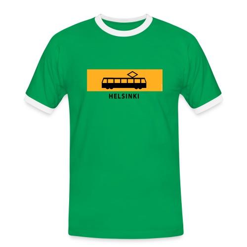 RATIKKA PYSÄKKI HELSINKI T-paidat ja lahjatuotteet - Miesten kontrastipaita