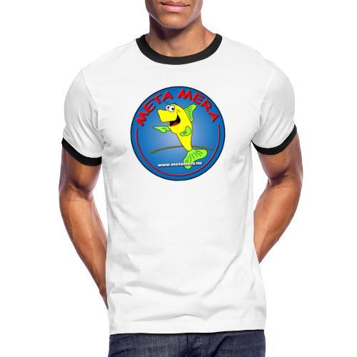 metamera_fish - Kontrast-T-shirt herr