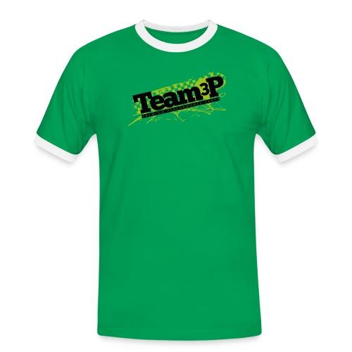 Team3P Logo - Männer Kontrast-T-Shirt