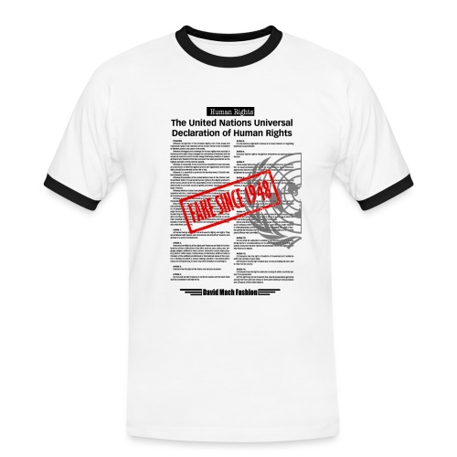 Human Rights - T-shirt contrasté Homme