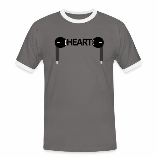 ListenToYourHeart - Koszulka męska z kontrastowymi wstawkami