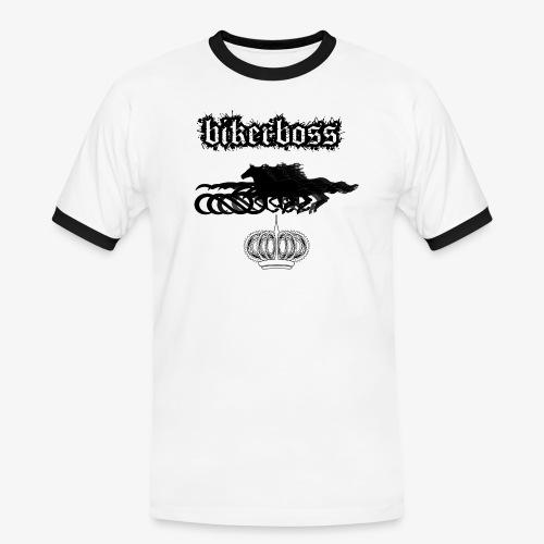 horsebiker - T-shirt contrasté Homme