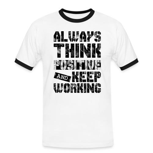 Think Positive - T-shirt contrasté Homme