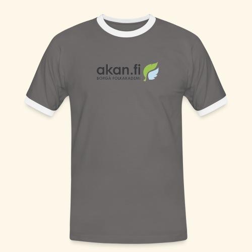 Akan Black - Kontrast-T-shirt herr