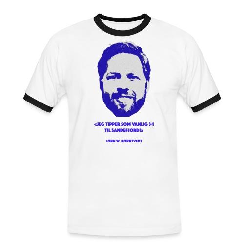 Horntvedt - Kontrast-T-skjorte for menn