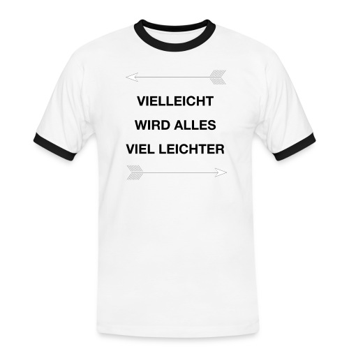 life - Männer Kontrast-T-Shirt