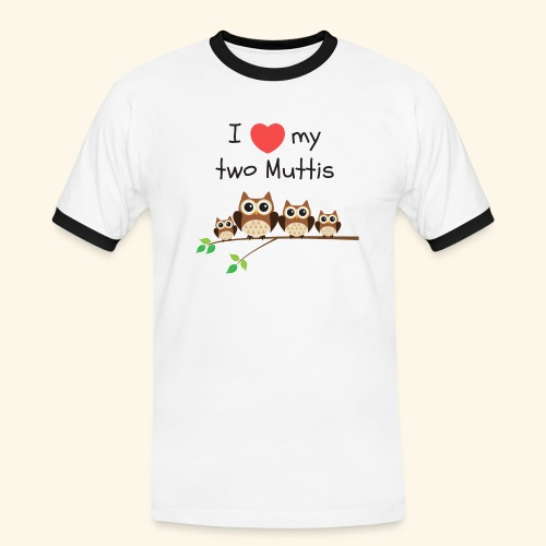 I love my two Muttis - T-shirt contrasté Homme