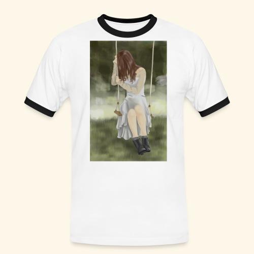 Sad Girl on Swing - Men's Ringer Shirt