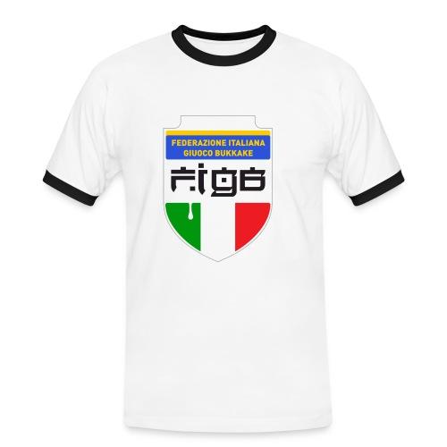 figb no anelli - Maglietta Contrast da uomo