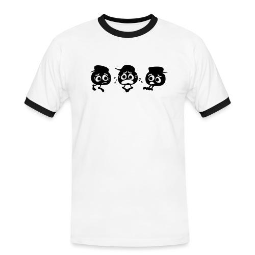 BerryBlueTrio - Männer Kontrast-T-Shirt