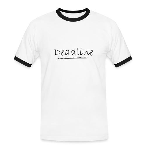 Deadline Rave - Männer Kontrast-T-Shirt