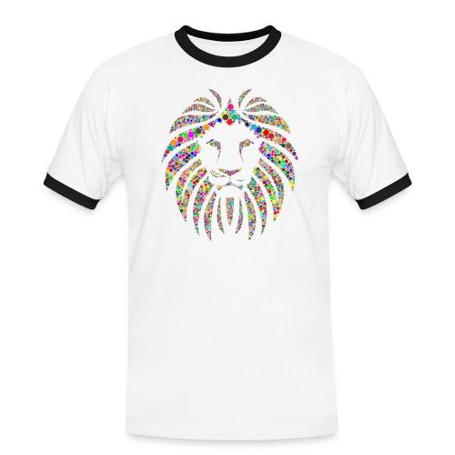 Ausdruck des Löwen - Männer Kontrast-T-Shirt