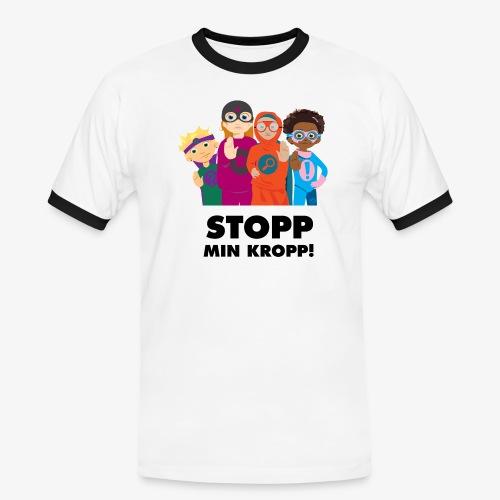 Stopp min kropp! - Kontrast-T-shirt herr