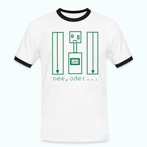usa ... nee, oder - Männer Kontrast-T-Shirt