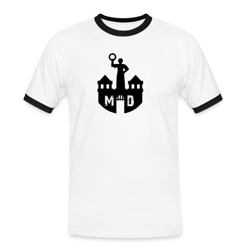 Weiß/schwarz Magdeburger Stadtwappen T-Shirts - Männer Kontrast-T-Shirt