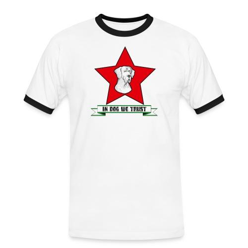 In Dog we trust - Männer Kontrast-T-Shirt