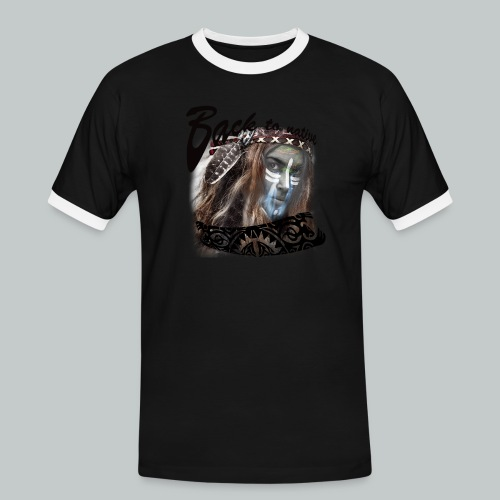 progress2 - Mannen contrastshirt