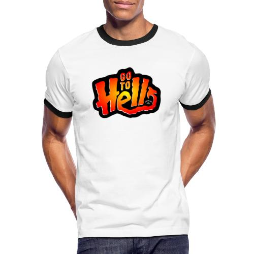 Go to Hell - T-shirt contrasté Homme