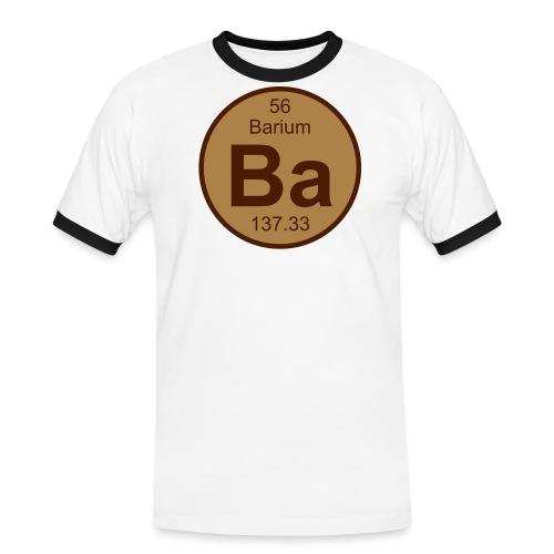 Barium (Ba) (element 56) - Men's Ringer Shirt