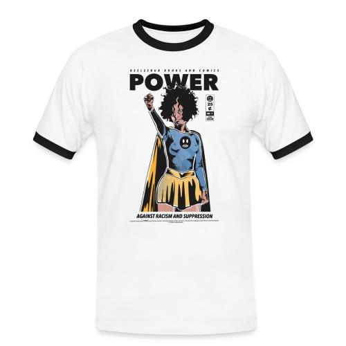 POWER - Männer Kontrast-T-Shirt