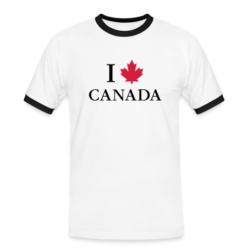 I love Canada Ahornblatt Kanada Vancouver Ottawa - Männer Kontrast-T-Shirt