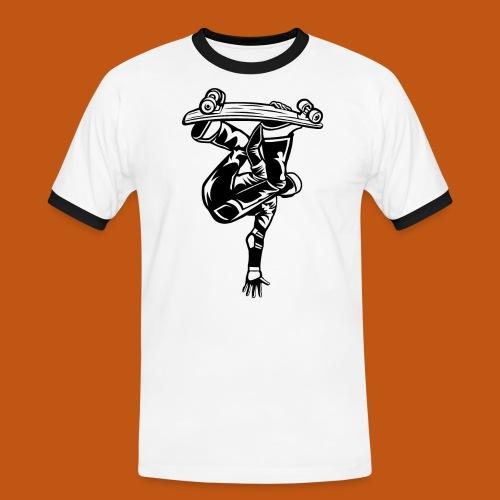 Skater / Skateboarder 03_schwarz - Männer Kontrast-T-Shirt