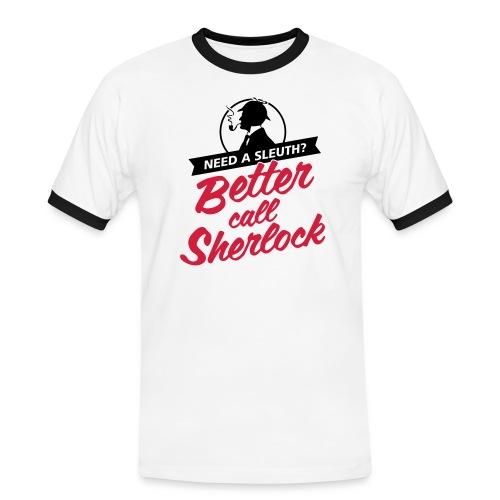 Better Call Sherlock - Männer Kontrast-T-Shirt
